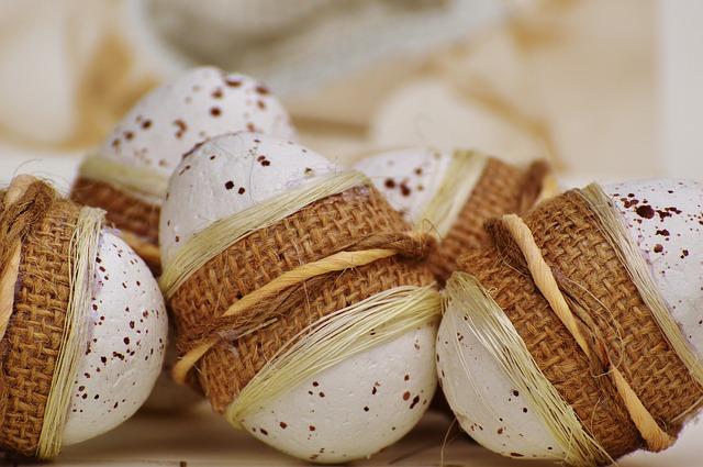 ozdabiamy jaja styropianowe na wielkanoc