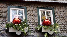 dekorowanie okna boże narodzenie